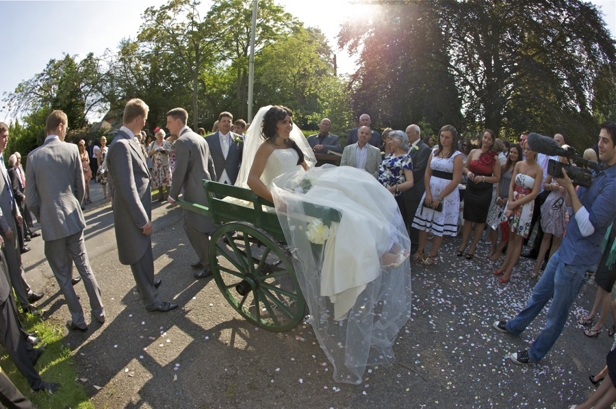 An unorthodox departure from the wedding