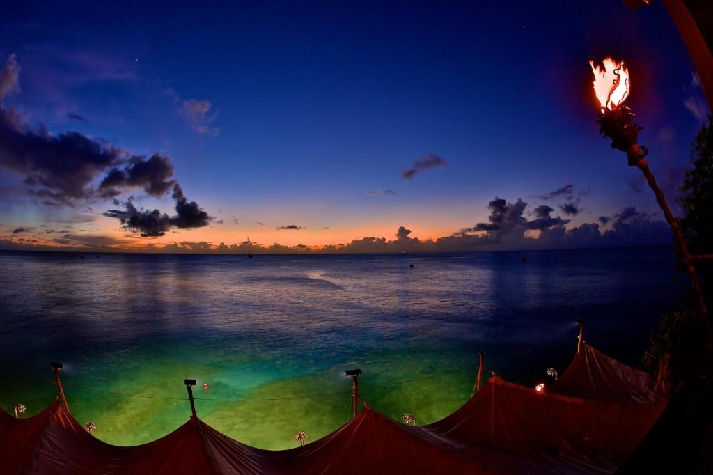 diving Barbados sea sunset