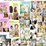 spring moodboard for wedding photoshoot