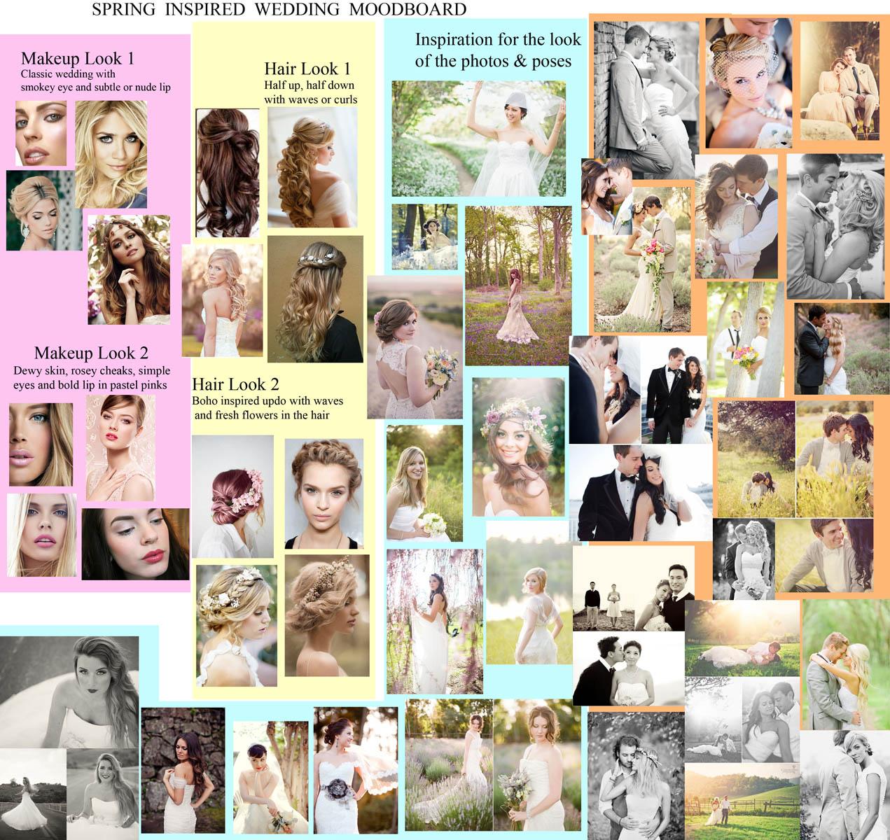 spring moodboard for wedding photoshoot
