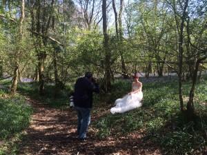 bluebells, woods, forest, bride, bridal, wedding, wedding dress, romantic, wedding photography, wedding photographer, joseph tufo, joe tufo, surrey