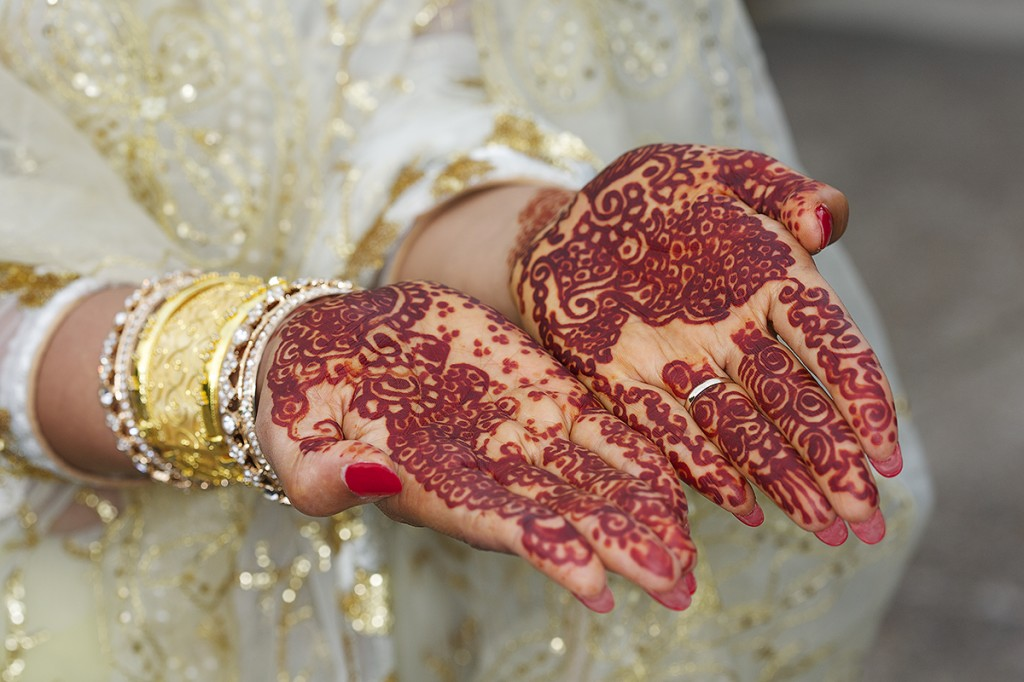 Henna for an asian bride