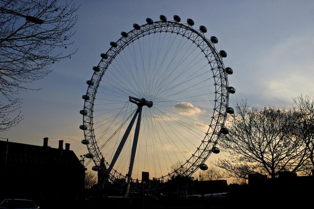 london Eye winter