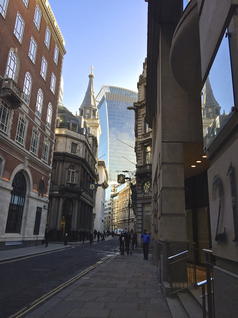 View of Fenchurch street in London
