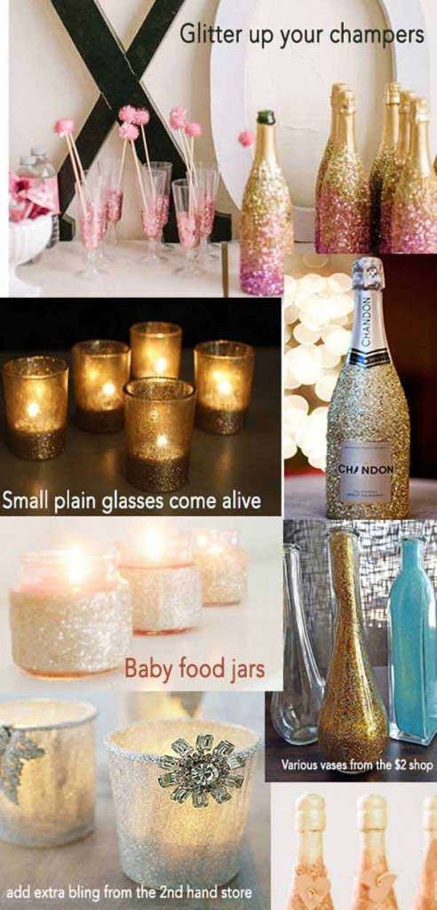 diy wedding glitter