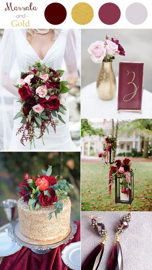marsala-and-gold-wedding-color-ideas-2016-trends