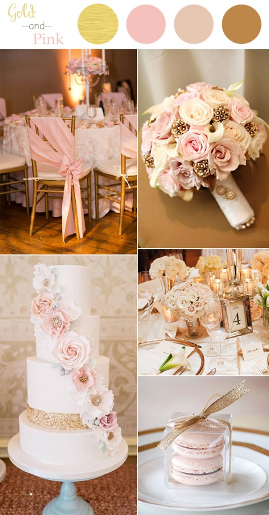 vintage-pink-and-gold-wedding-color-ideas-for-2016