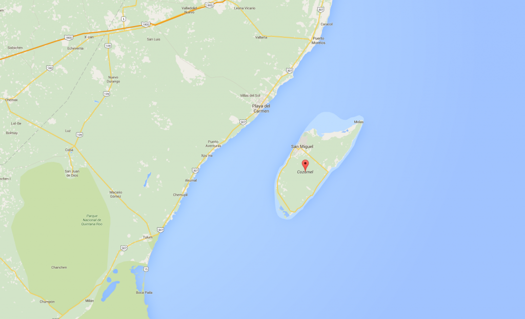 Cozumel Google Map